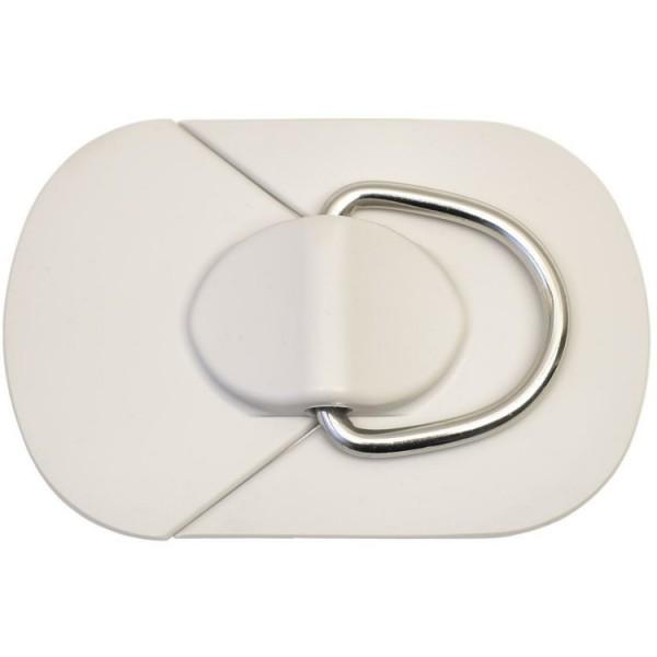 Ovalpad Grau mit D-Ring 50