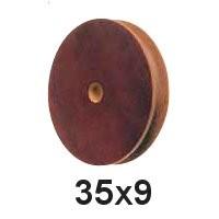 Seilscheibe Tufnol 35 x 9