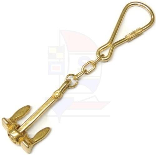 Schlüsselanhänger Messing Anker klein