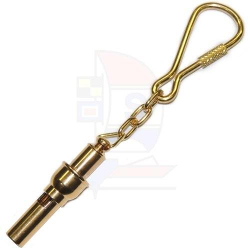 Schlüsselanhänger Messing Pfeife