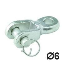 Toggle Auge / Gabel 6mm