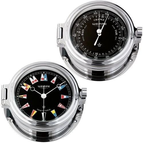 Wempe Regatta 2-er Set Quarzuhr + Barometer