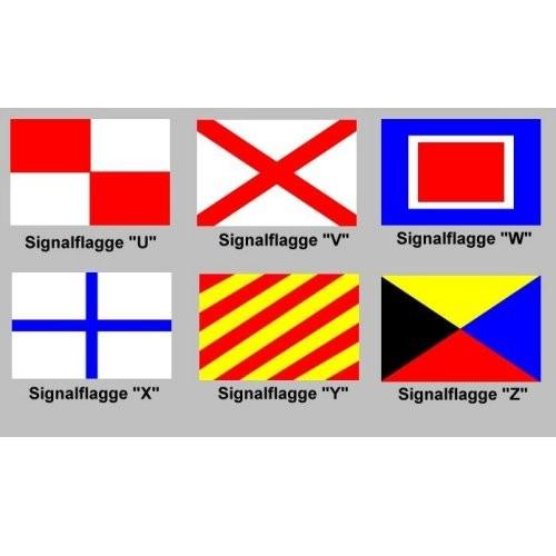 Signalflagge 30 einzeln U - Z