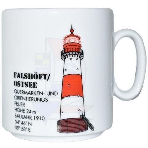 Leuchtturmtasse Falshöft / Ostsee