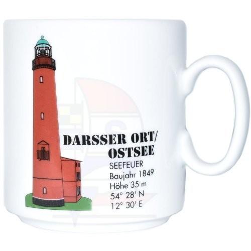 Leuchtturmtasse Darsser Ort / Ostsee