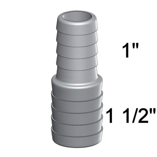 TrueDesign Reduzierstück 1 Zoll auf 1 1/2 Zoll