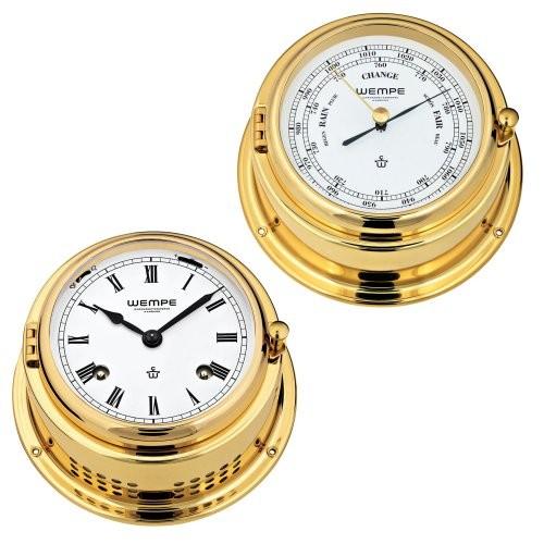Wempe Bremen II 2-er Set Glasenuhr + Barometer