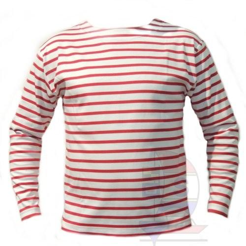 Bretonisches Fischerhemd weiß / rot
