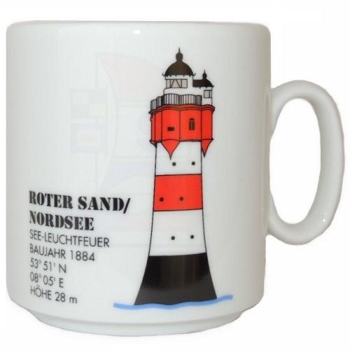 Leuchtturmtasse Roter Sand/Nordsee