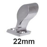 Handlauf-Rohrendstück Edelstahl 22mm 60°