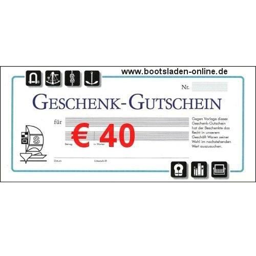 Geschenkgutschein € 40
