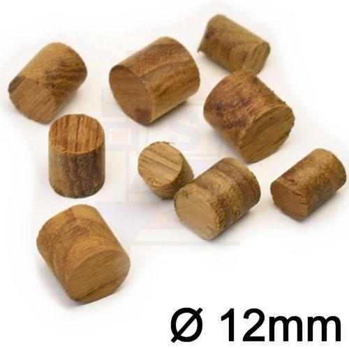 Teakholzpfropfen 12mm