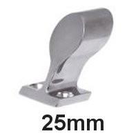 Handlauf-Rohrendstück Edelstahl 25mm 60°