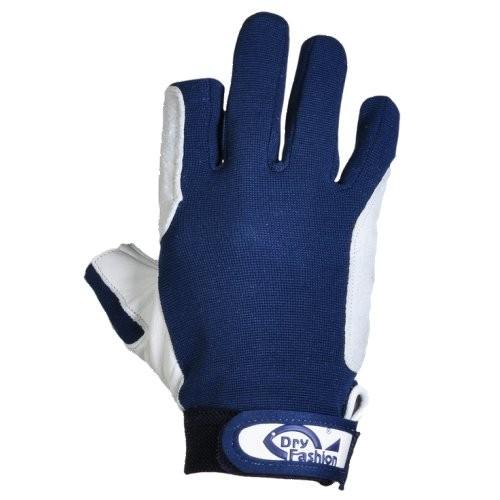 Dry Fashion Handschuhe Leder m.F. navy