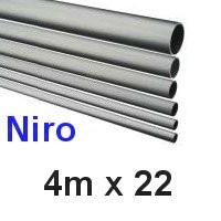 Niro-Rohr 4m x 22x1,5mm