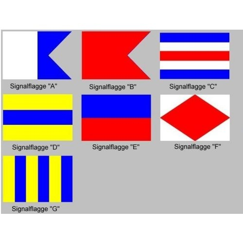 Signalflagge 30 einzeln A - G