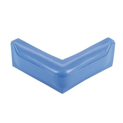 Stegfender Winkel 50cm blau