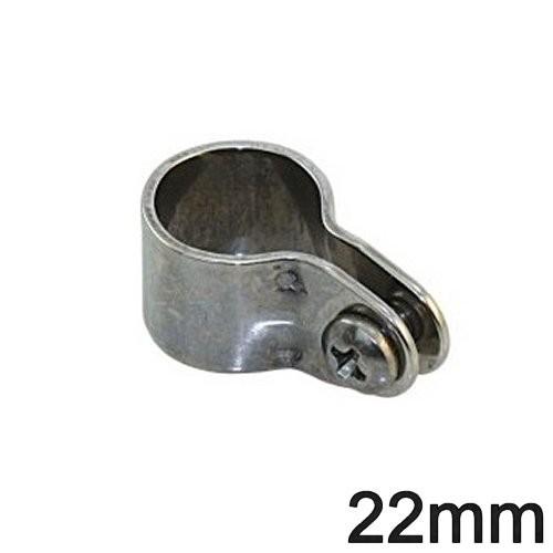Niroschelle für 22mm Rohr umschließend
