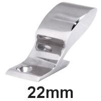 Handlauf-Rohrendstück Edelstahl 22mm 120°
