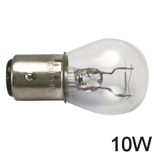 Glühlampe 10W BA Y 15d runde Form