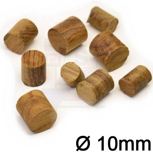 100 St. Teakholzpfropfen 10mm