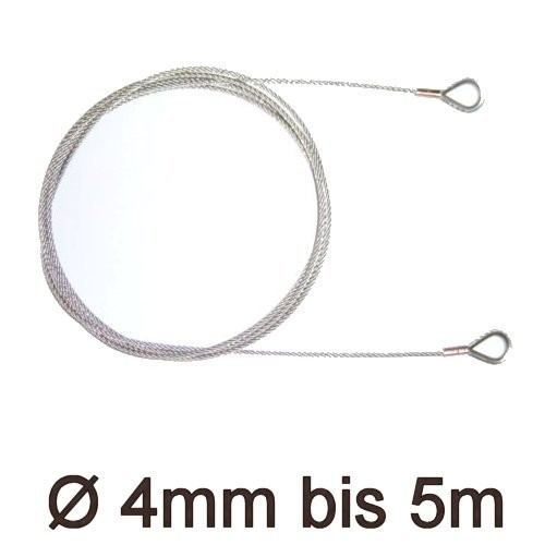 Drahtstropp mit Kauschen 4mm flex bis 5m