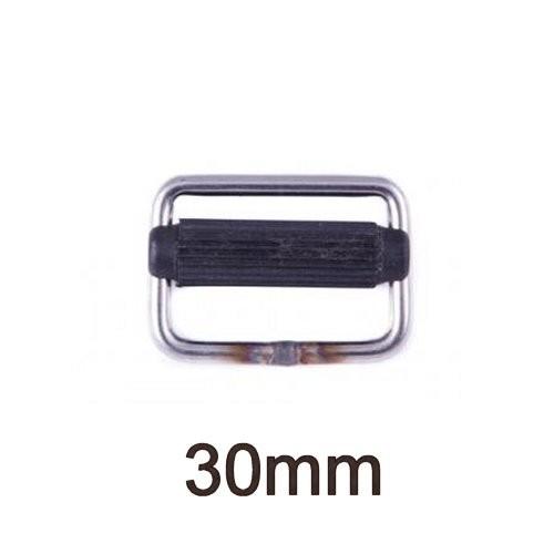 Gurtschnalle Edelstahl mit Nylon-Steg 30mm