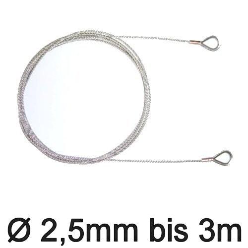 Trapez-Wante mit Kauschen 2,5mm flex 2,10
