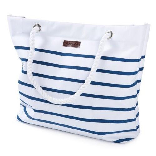 Clipper Einkaufstasche weiß / blau