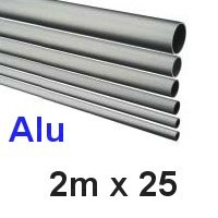 Alu-Rohr 2m x 25x2,0mm silber eloxiert