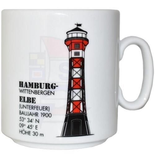 Leuchtturmtasse Hamburg Wittenbergen / Elbe