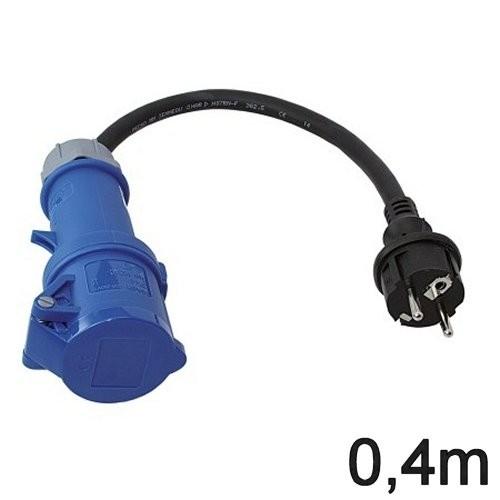 CEE Adapterkabel 0,4m Typ Schuko/CEE