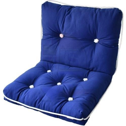 Sitzkissen Kapokkissen doppelt blau