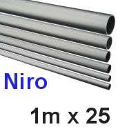 Niro-Rohr 1m x 25x1,5mm