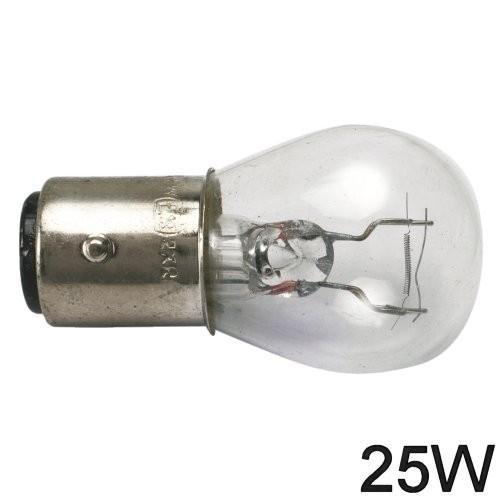 Glühlampe 25W BA Y 15d runde Form