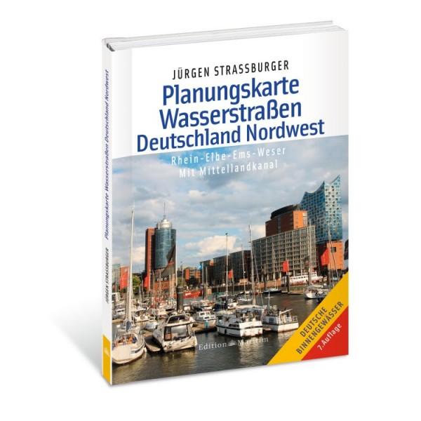 Planungskarte Wasserstraßen Deutschland Nordwest / Strassburger