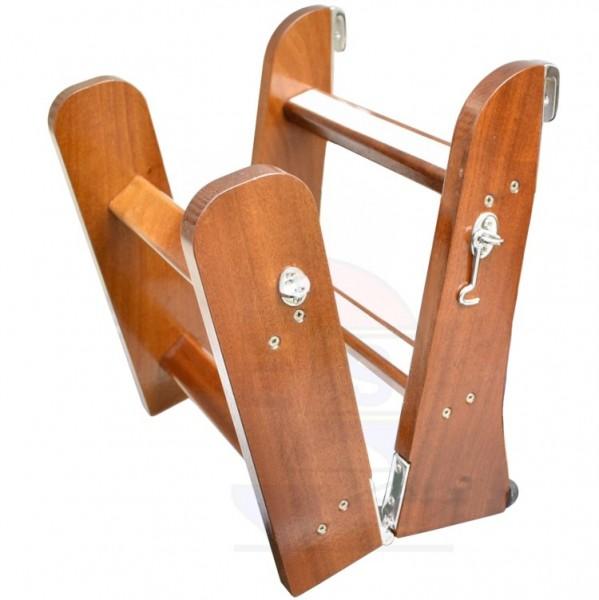 Holzbadeleiter Mahagoni 4-stufig