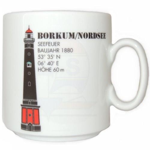 Leuchtturmtasse Borkum / Nordsee