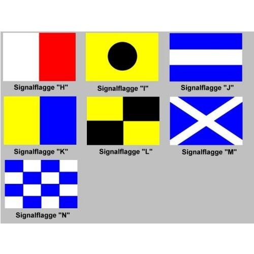 Signalflagge 30 einzeln H - N
