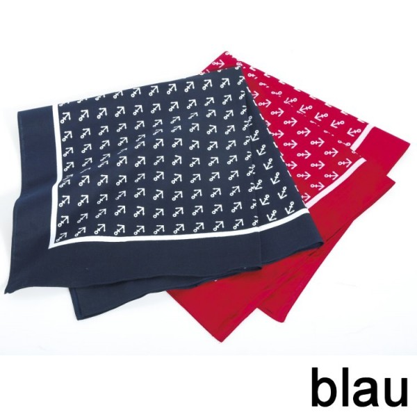 Vierecktuch Anker 54 x 54 blau