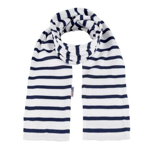 Bretonischer Schal weiß-blau