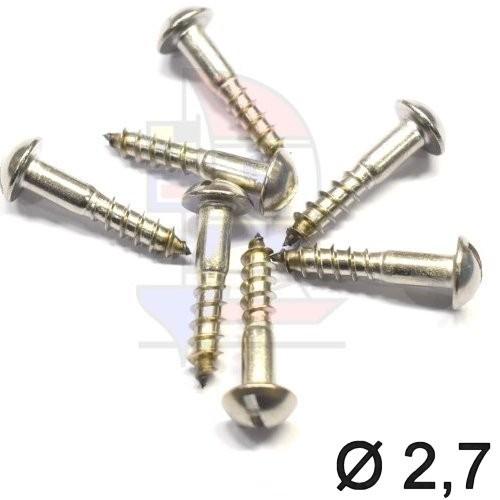 Halbrundkopfschraube 2,7 (DIN 96)